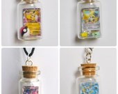 MADE TO ORDER, Custom Bottled Pokemon Card Necklace/Phone Charm/Keychain