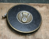 Vintage 50ft Tape Measure - Metal Case