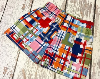 Madras plaid shorts, boy madras plaid, madras shorts for boys