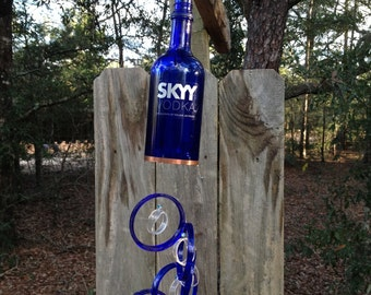 RECYCLED BOTTLE WINDCHIME, handmade, eco friendly and green, colorful and musical, wind chimes, garden decor, wind chime