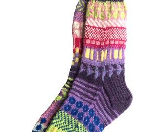 Socks, Hand Knit Unique Socks, Men Sox, Women Sox, Boho Socks, Hipster Socks, Icelandic Design, Bohemian Socks, MADE TO ORDER