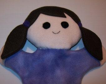 """11"""" Fleece Girl Hand Puppet - Ready to Ship!"""