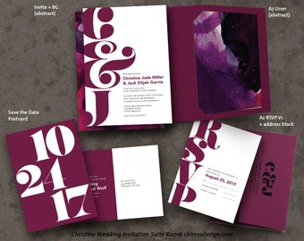 CHRISTINE Invitation Suite Printables
