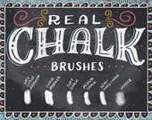 INSTANT DOWNLOAD Real Chalk - Photoshop Brush (TPL)