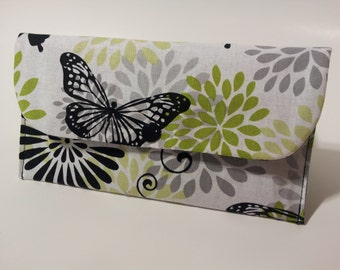 Coupon Holder, Coupon Pouch, Coupon Wallet, Cash Envelope Wallet - Glamour Butterfly