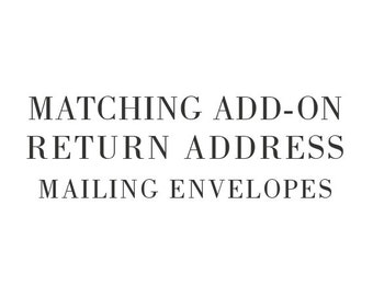 Matching Add-On Return Address for Mailing Envelopes - Printable Do-It-Yourself