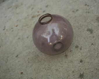 Antique Amethyst Purple Glass Lightning Rod Balls, Barn Primitive,