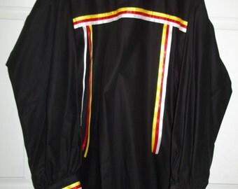 2xl, black, mens, ribbon shirt, native american style