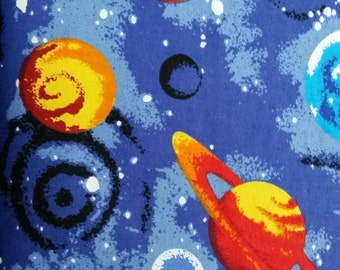 Solar system quilt etsy for Solar system fleece fabric