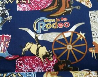 Wild West Cowboy Marshall/Sheriff's Star Fabric By The Yard