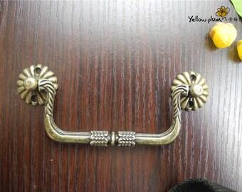 1/2/10 Pcs 103*32mm antique brass color dresser drawer pulls handles / Cabinet Knob Pull Handles/jewelry box handle H047