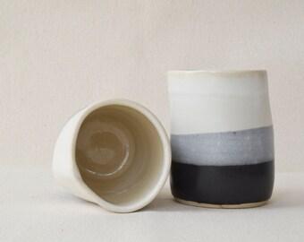 Black and White Tumblers/Wine Cup/Beer Mug/Ceramic Cup/Ceramic Mug/Coffee Cup/Tea Cup/Ceramic Coffee Cup (C39)