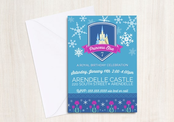 FROZEN Inspired Invitation - Frozen Party - Princess Elsa and Anna - FROZEN party supplies