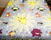 Vintage Pokemon Comforter Twin NWOT New 1996 Pikachu Squirtle Pokemon Go bedding blanket kids room Nintendo