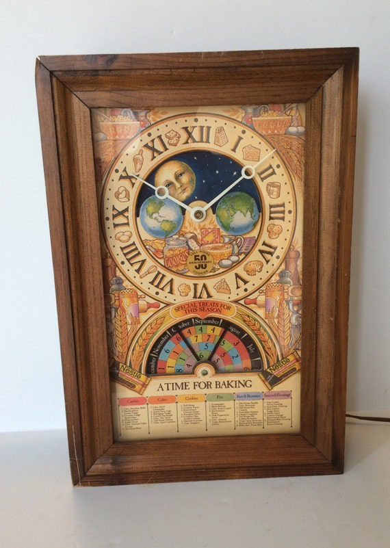Vintage Nestle Toll House Cookies 50th Anniversary Wall Clock