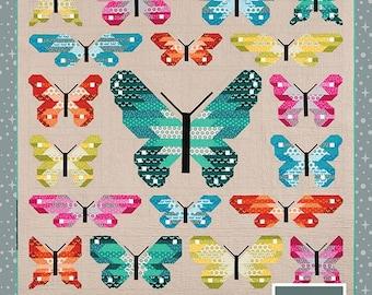 Lepidoptera - Lepidoptera Quilt Kit featuring Paintbox Basics - Elizabeth Hartman for Robert Kaufman (EH-QKLPBB)