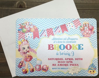 Birthday Invitations - Shopkins, Girly, Birthday Party, Bright Colored