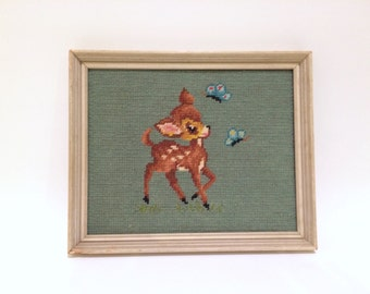 Deer Needlepoint Embroidery