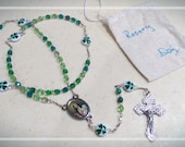 Luck of the Irish Traditional Rosary Unique - Hand Crafted