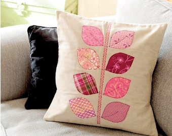 PDF Pattern: Applique Leaf Cushion (Beginner Friendly)