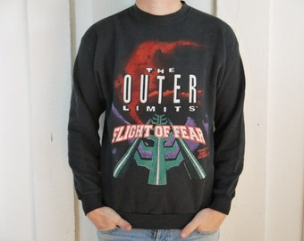 Vintage 1994 The Outer Limits Flight of Fear Kings Dominion Sweatshirt