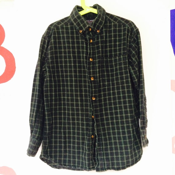 Vintage Plaid Shirt Kids 8-9 Years Cotton Flannel Lumberjack Unisex