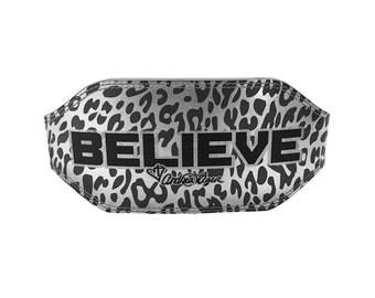 "SMALL Metallic Cheetah Believe 6"" Weightlifting Belt - SIZE SMALL - UDB022S"
