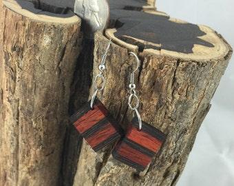 Padauk and Wenge Wood Earrings - The Phoenix Collection