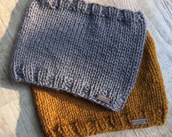 Chunky Hand Knit Cowl Scarf * Fall or Winter Cozy Snood Scarf Accessory