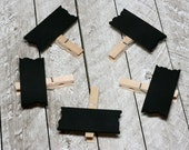 Chalkboard Clothespin Signs - Mini Chalkboard Sign