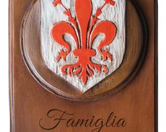 Italian Fleur di Lis Personalized Family Sign