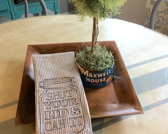 Mason Jar Farmhouse dish towel