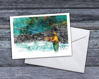 Fly Fishing  - Secret Spot Greeting Card