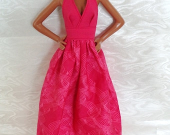 Halter Top Maxi SunDress for Barbie or similar fashion doll