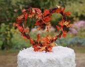 Fall Cake Topper, Autumn Wedding Decor