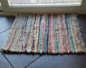 Woven Rag Rug ~ Multicolored Stripes