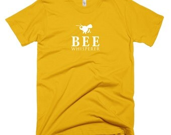 Bee Shirt - Bee Whisperer T-Shirt - Bumble Bee Gift - Yellow Top - Animal Shirt - Fun TShirt - Honeycomb Stuff - Bee Tee - Colorful Shirt
