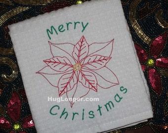Poinsettia embroidery file