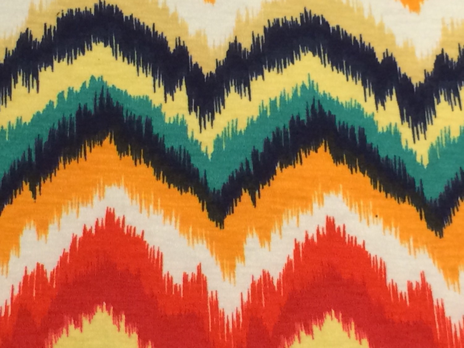 Multi Color Chevron Zig Zag 2 way stretch poly cotton lycra fabric ...