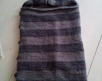 Nid d'ange 0-6 mois tricoté à la main