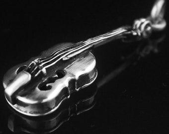 Violin, fiddle Silver pendant