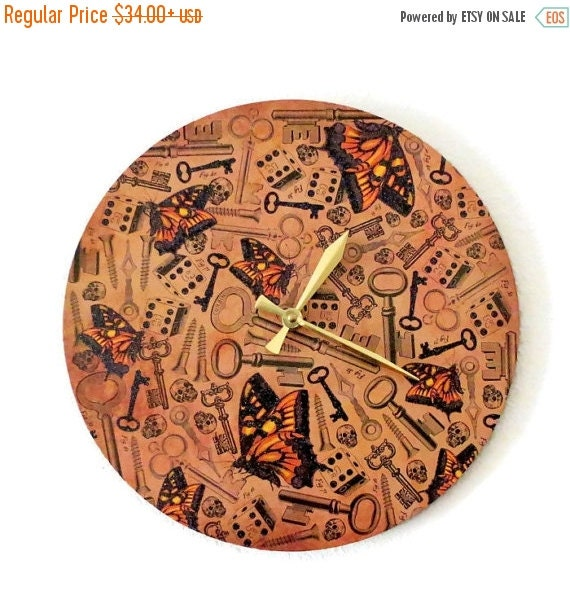 Sale Steampunk Wall Clock Home and Living Brown Clock