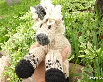 Molly: Fjord Horse Pony Toy Stuffed Animal Toy Horse