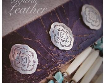 Rustic Leather Cuff Bracelet