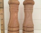 Large Wooden pepper and salt grinders,pepper,salt mill,natural wood