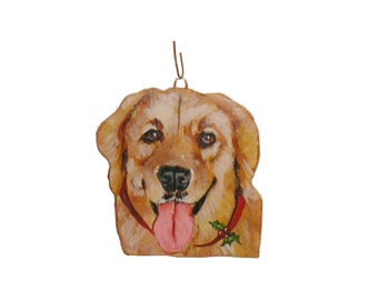 Golden Retriever Pet Dog Portrait  Ornament