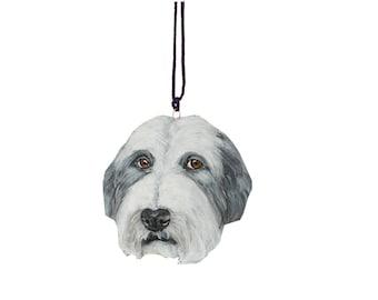 Custom Pet  Dog Portrait Memorial Urn Ornament