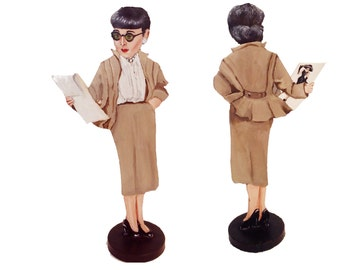 Edith Head Hand Painted 2D ArtFigurine