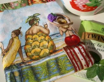 Tea bag wallet - fruit ladies