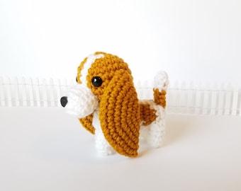 Basset Hound Plush Toy, Dog Stuffed Animal, Hound Stuffed Dog, Basset Hound Soft Toy, Handmade Amigurumi Pup